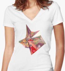 Refraction Women's Fitted V-Neck T-Shirt
