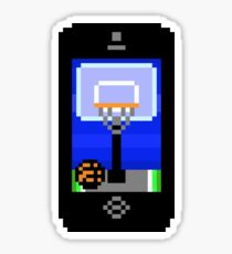 Phone Basketball Pixels Sticker
