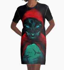 Cat Sharks Graphic T-Shirt Dress