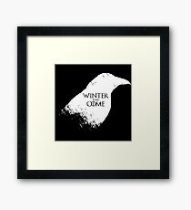 Winter Has Come Tee Framed Print