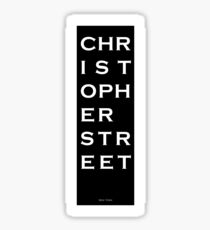 Christopher Street - NYC - Black Sticker