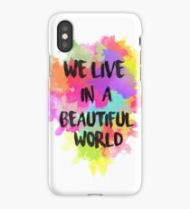 We Live in a Beautiful World Watercolor iPhone Case/Skin