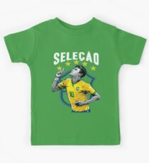 Neymar Brazil World Cup Shirt Kids Tee