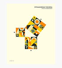 PYTHAGOREAN THEOREM PROOF BY REARRANGEMENT Photographic Print
