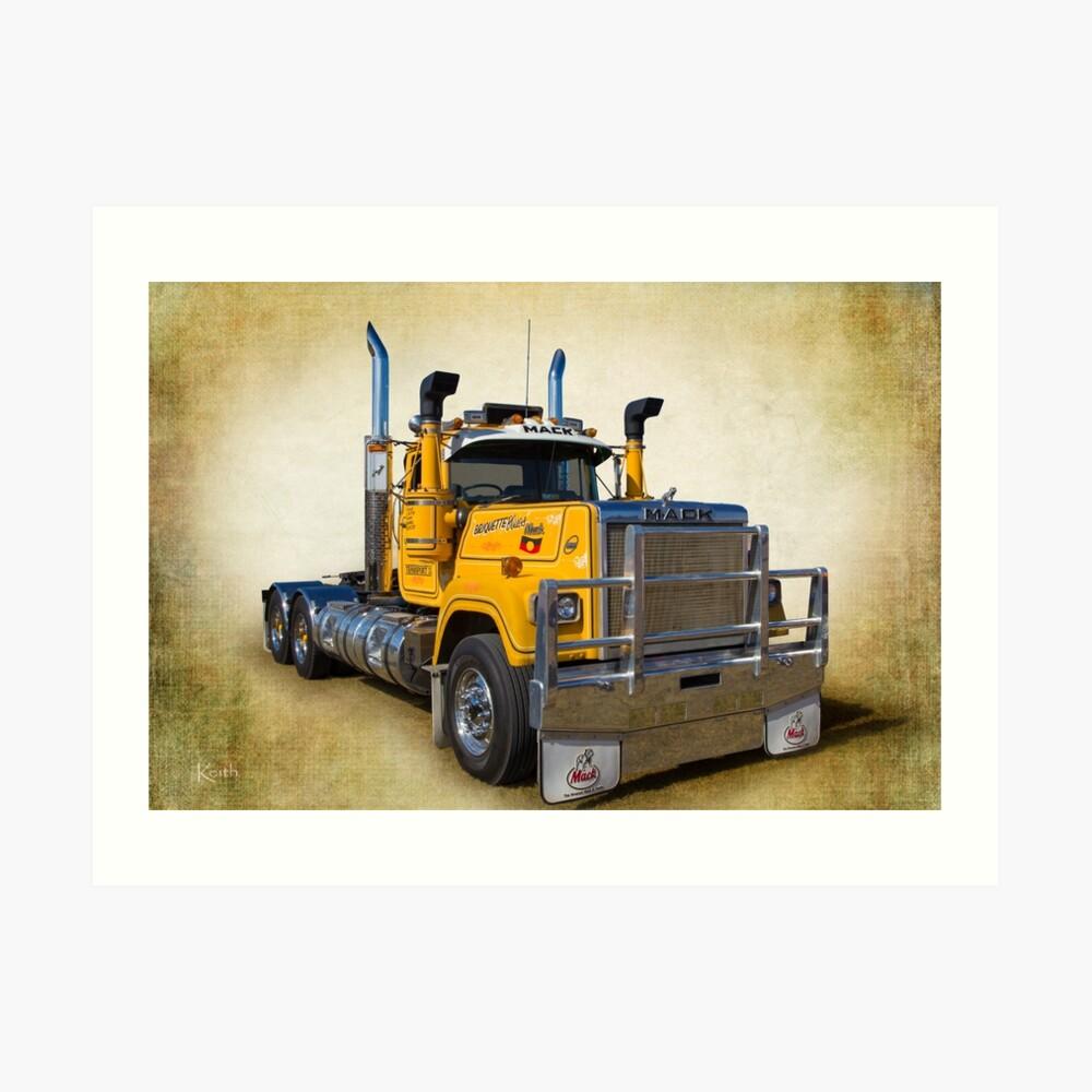 Mack Truck Art Print
