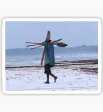 Kenyan fisherman and oars Sticker