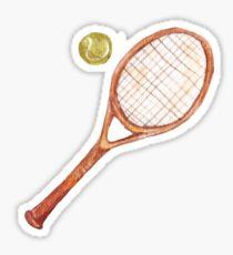 Tennis racket with tennis ball Sticker