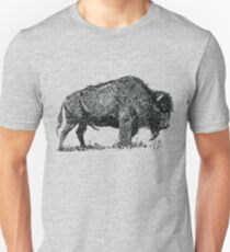 Buffalo Bison Familly Sketch Unisex T-Shirt