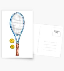 Tennis racket with tennis balls_2 Postcards