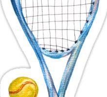 Tennis racket with tennis balls_2 Sticker