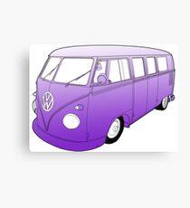 Purple VW Camper Canvas Print