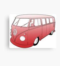 Red VW Camper Canvas Print