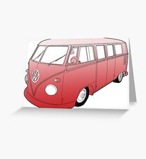 Red VW Camper Greeting Card