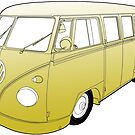 Yellow VW Camper by Colin Bentham