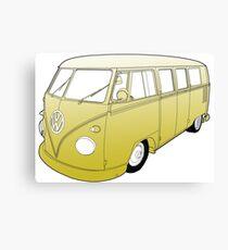 Yellow VW Camper Canvas Print