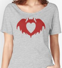 Clandestine Bat Heart - Red Women's Relaxed Fit T-Shirt
