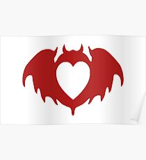 Clandestine Bat Heart - Red Poster