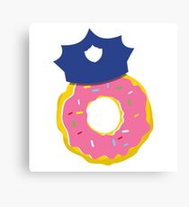 police hat with a doughnut Canvas Print