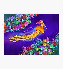 Jellyfish Mermaid! Photographic Print