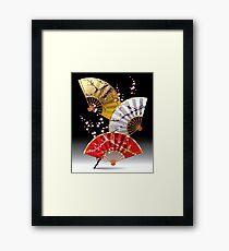 Japanese fans Framed Print