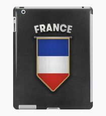 France Pennant with high quality leather look iPad Case/Skin