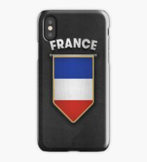 France Pennant with high quality leather look iPhone Case