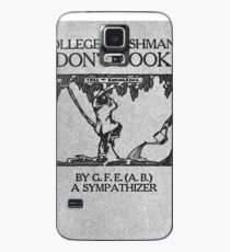 Vintage The College Freshman's Don't Book Case/Skin for Samsung Galaxy