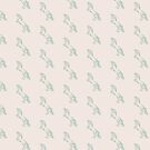 Rearing Horse in Soft Green on Neutral by ThistleandFox