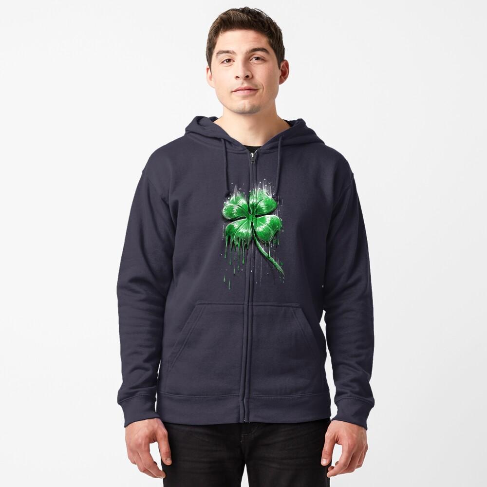 Four Leaf Clover Zipped Hoodie
