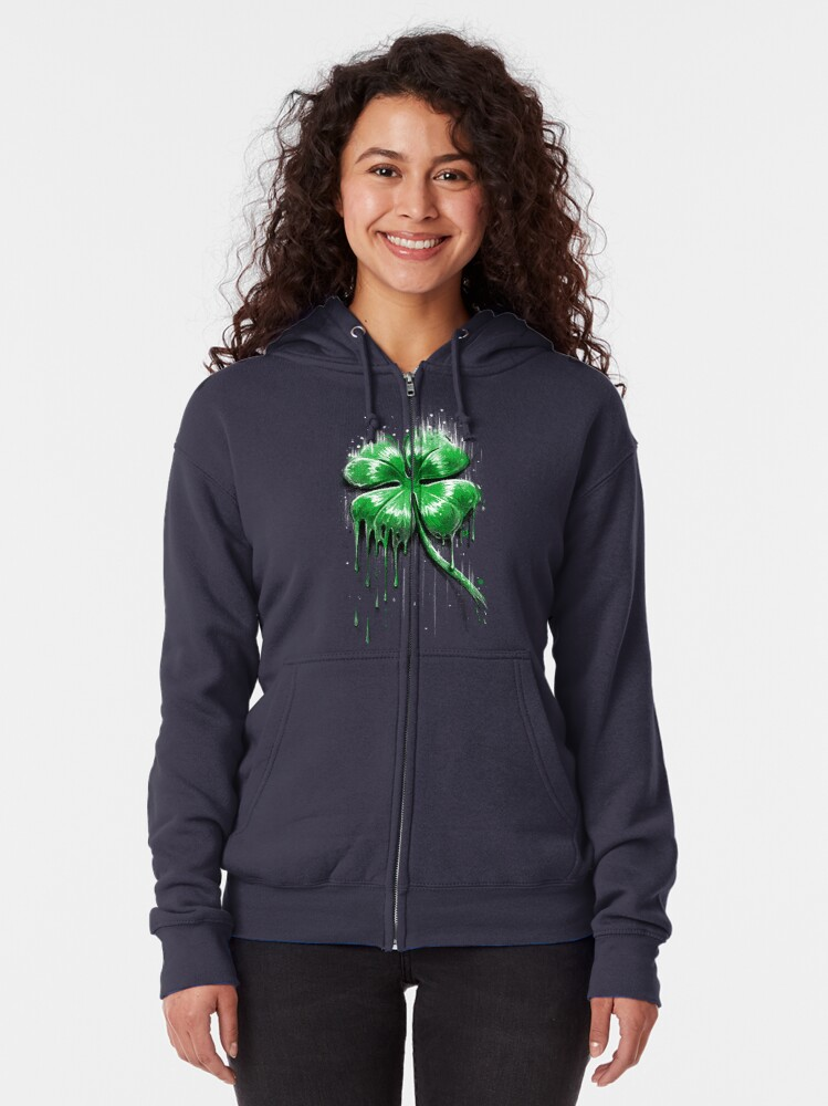Alternate view of Four Leaf Clover Zipped Hoodie