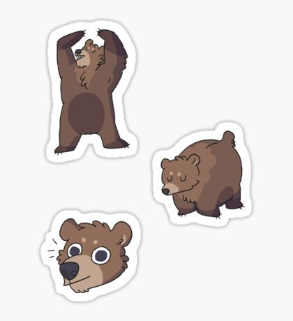 mini bears Sticker