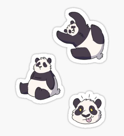 mini pandas Sticker
