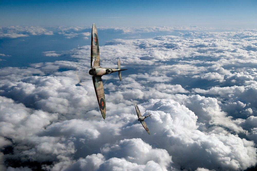 Spitfires turning in by Gary Eason