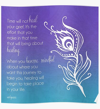 Time Does Not Heal Grief Poster