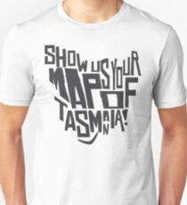Map Of Tasmania T Shirts Redbubble - Show-us-your-map-of-tassie