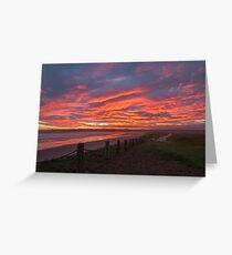 Sunset at Mavillette Greeting Card