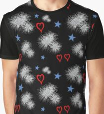 4th of July Hearts Graphic T-Shirt