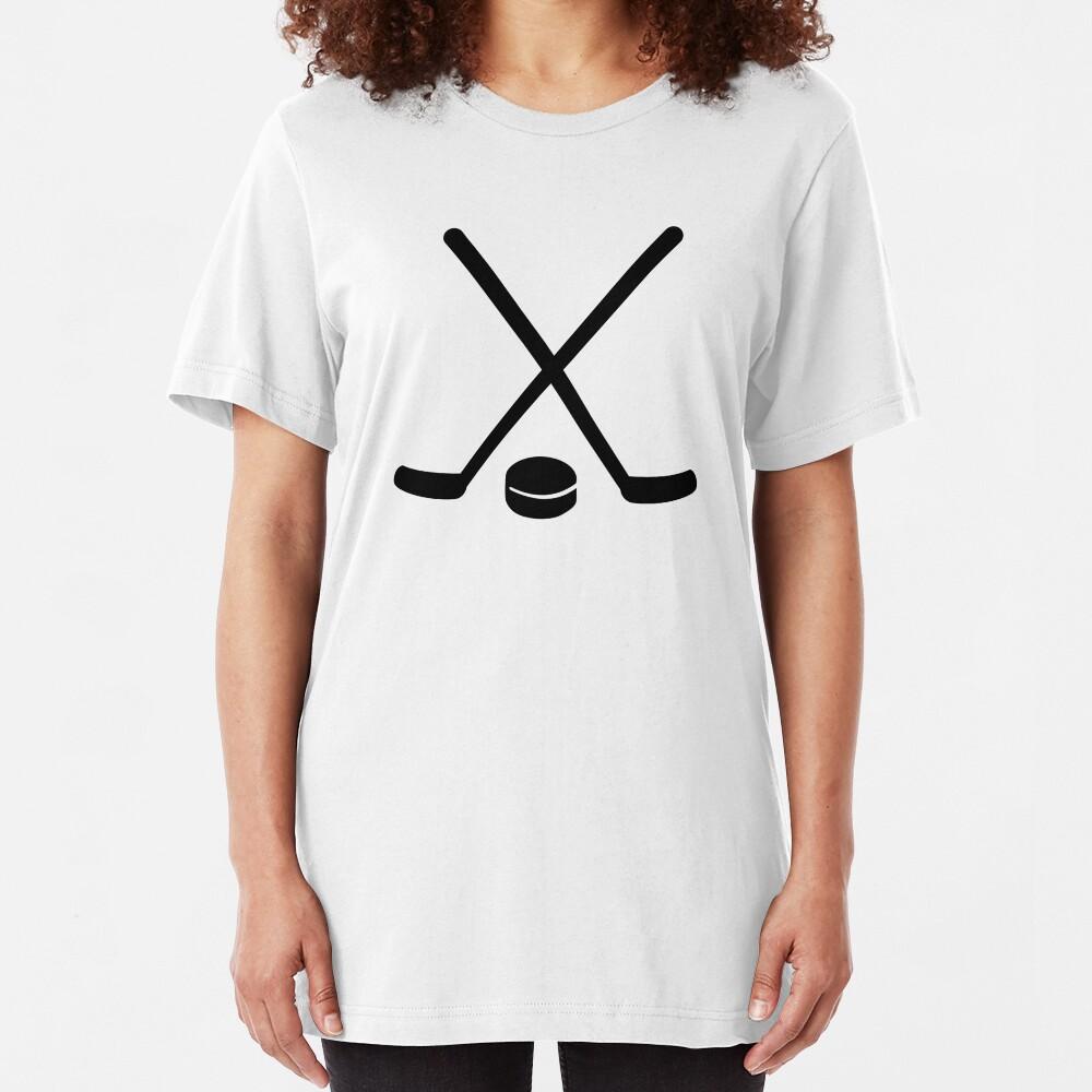 Disco de hockey palos Camiseta ajustada