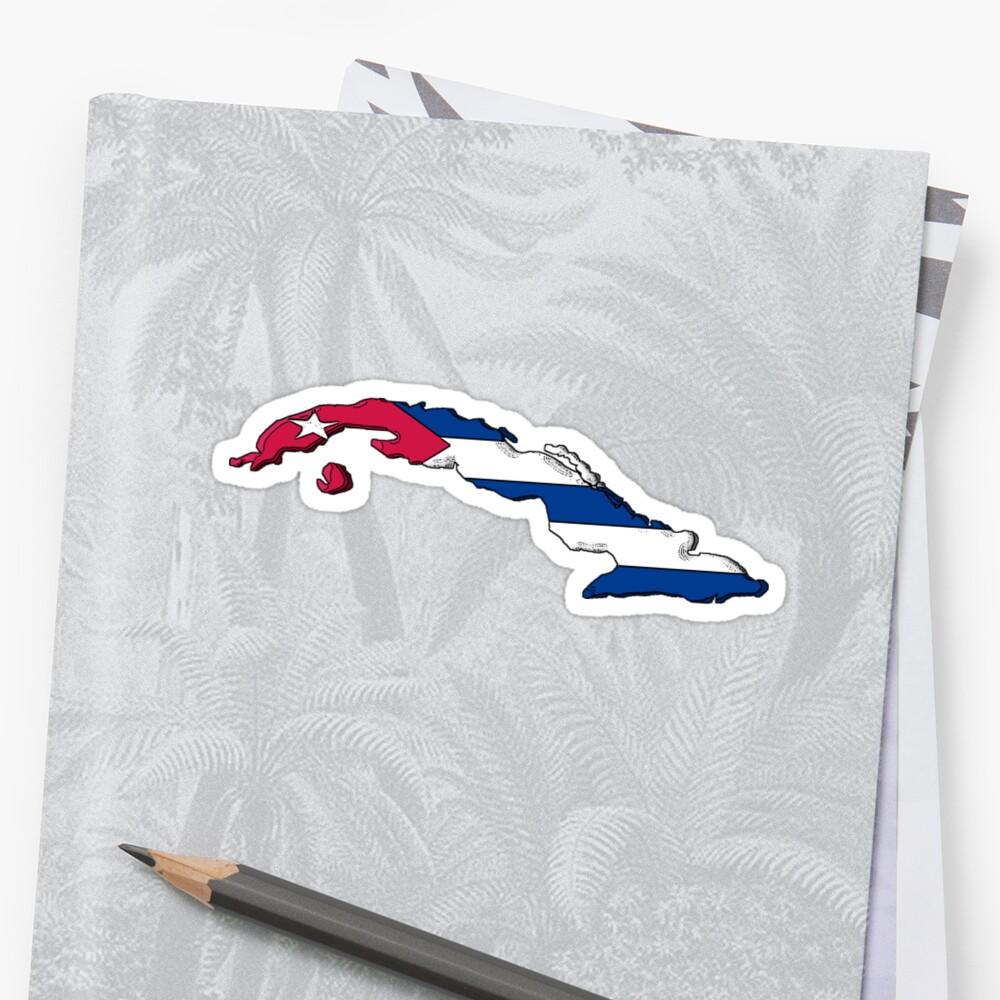 Cuba Map With Cuban Flag by Havocgirl