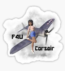 F4U Pin Up Art 2 Sticker
