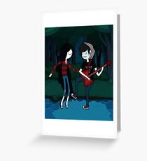 Marceline and Marshall Lee - Adventure Time Greeting Card