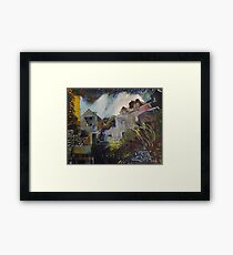 Chicken Cottage Framed Print