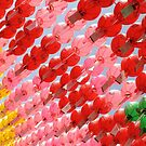 Multi-colored Lanterns at Buddha's Birthday by Mike Ashley