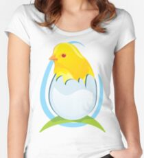 cute colored chicken Women's Fitted Scoop T-Shirt