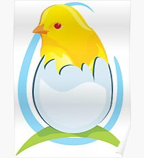 cute colored chicken Poster