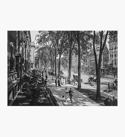 Broadway in Saratoga Springs, New York, ca 1915 (full size) Black & White version Photographic Print