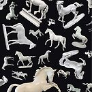 Porcelain Horses on Slate 2016 by lightsight