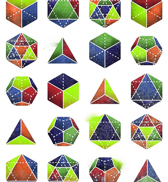 Sacred shapes and colors pop geometry  by Jonah Block