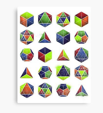 Sacred shapes and colors pop geometry  Canvas Print
