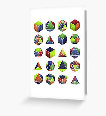 Sacred shapes and colors pop geometry  Greeting Card